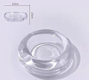 Glass Container 0.5 oz - Round shape with lid