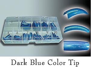 Colour Tips Dark Blue - 250 tips