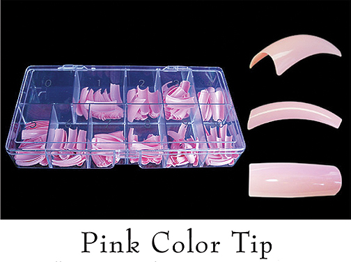 Colour Tips Pink - 250 tips